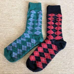 Men's, Hugo Boss argyle sock bundle